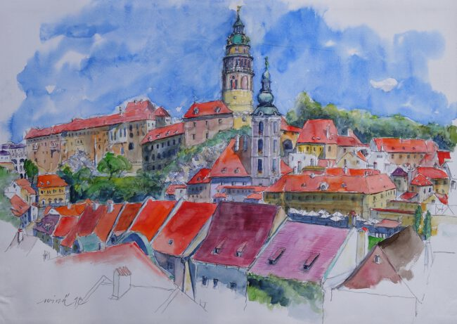 Cesky Krumlov Altstadtblick